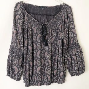American Eagle Outfitters boho peasant top